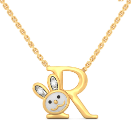 R For Rabbit Necklace For Kids