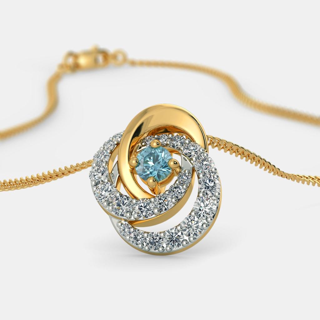 Topaz pendants buy topaz pendant designs online in india 2018 the azura pendant mozeypictures Gallery