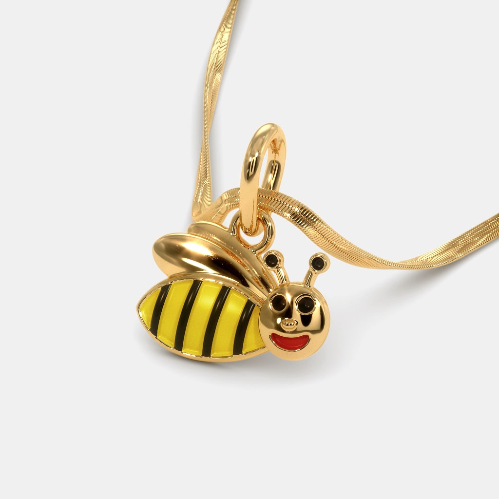 necklace larger back bumble bee bumblebee a gp view pendant image