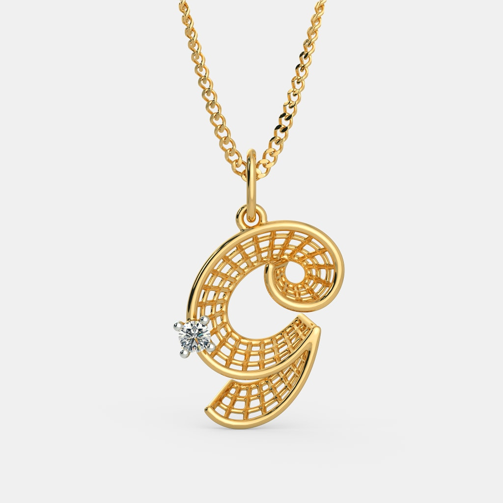 The gorgeous g pendant bluestone the gorgeous g pendant aloadofball Image collections