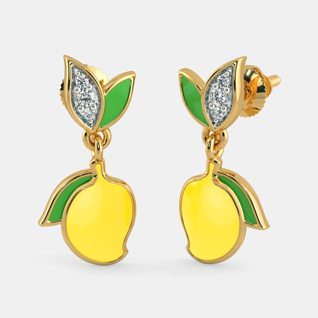 The Mango Mist Earrings for Kids | BlueStone.com