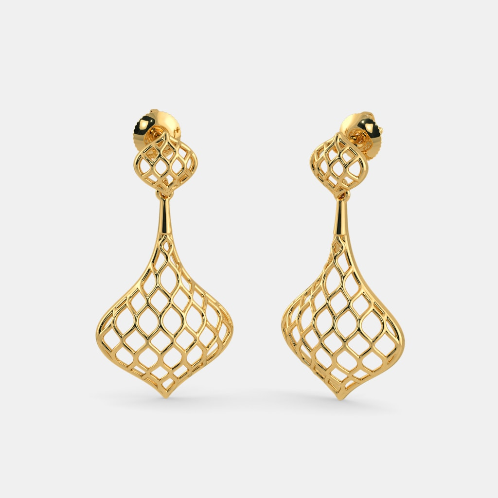 interlocking river main rose island women diamante gold c wid jewellery earrings