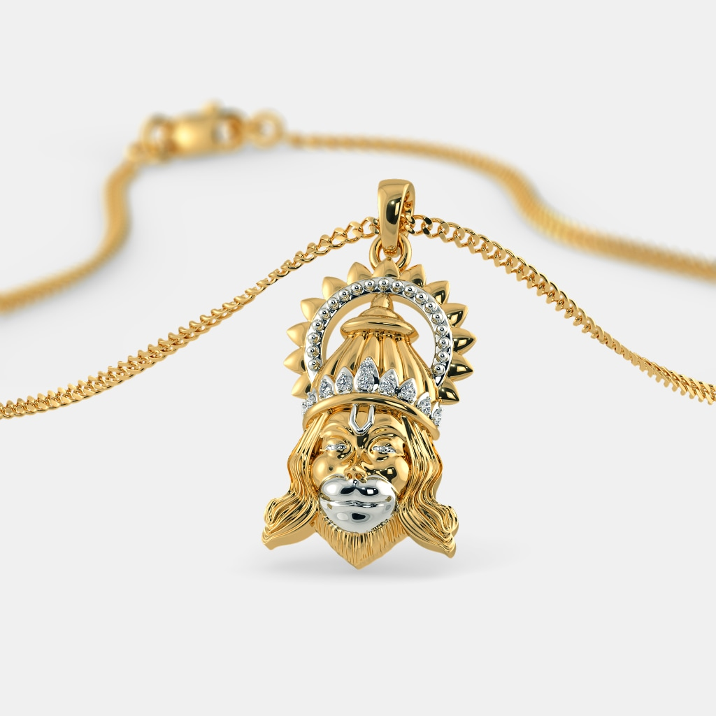 Buy Gold Hanuman Pendant Designs Online in India 2018 | BlueStone