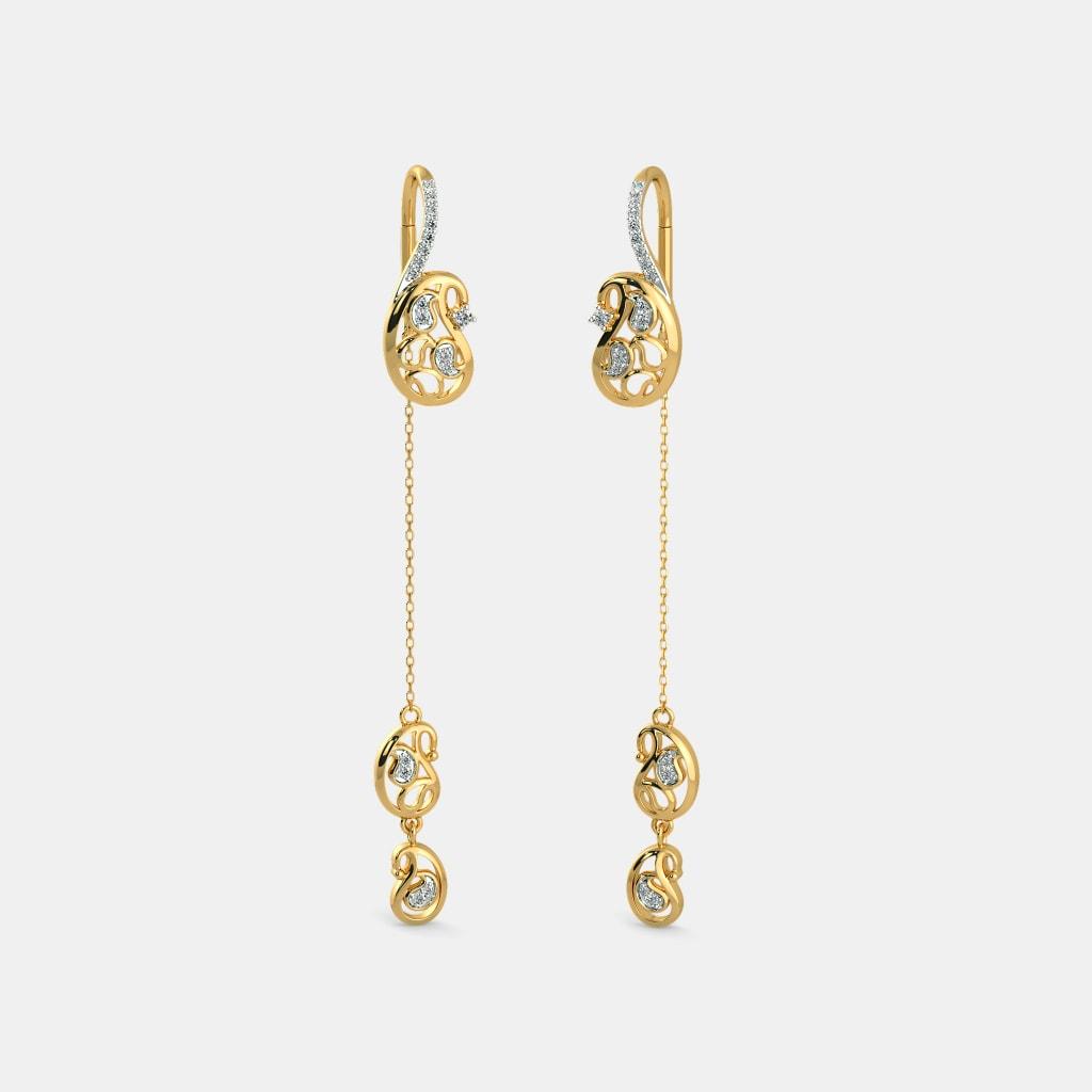 The Anvi Sui Dhaga Earrings | BlueStone.com