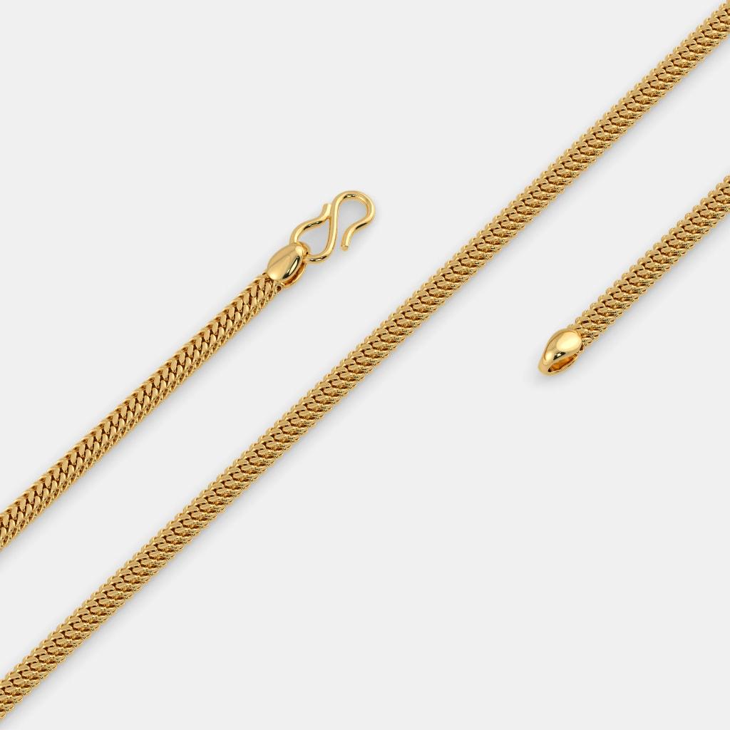 The Adhamya Gold Chain   BlueStone.com