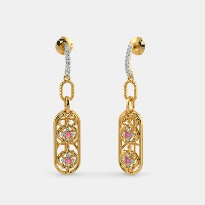 The Ornate Oblong Drop Earrings
