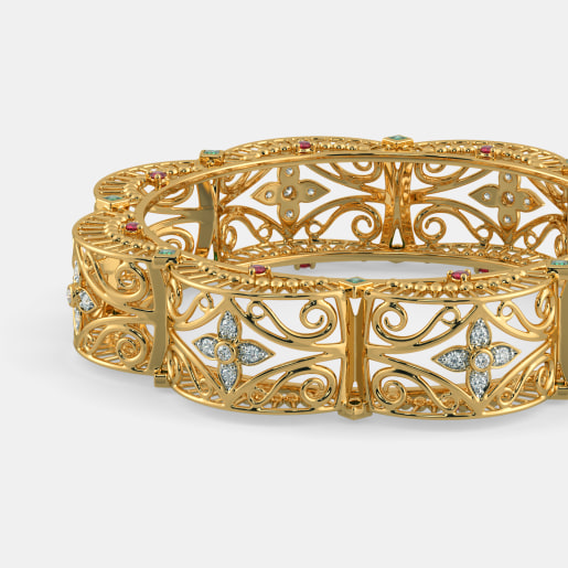 gold emerald jewels india bangles south