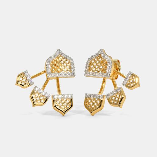The Malvi Front Back Earrings