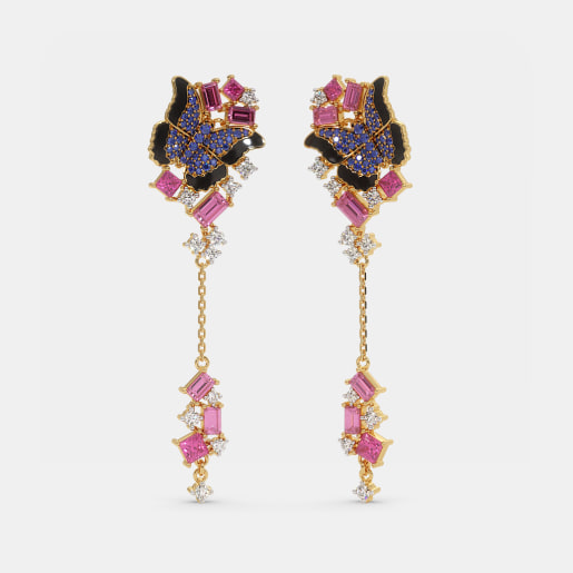 The Morpho butterfly drop earrings