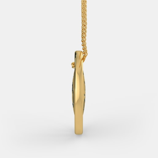 Diamond Pendant In Yellow Gold (5.38 Gram) With Diamonds (0.012 Ct)