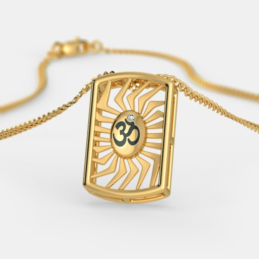 Diamond Pendant In Yellow Gold (2.8 Gram) With Diamonds (0.010 Ct)