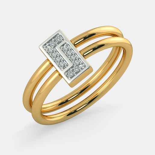 Diamond Ring In Yellow Gold (4.393 Gram) With Diamonds (0.064 Ct)