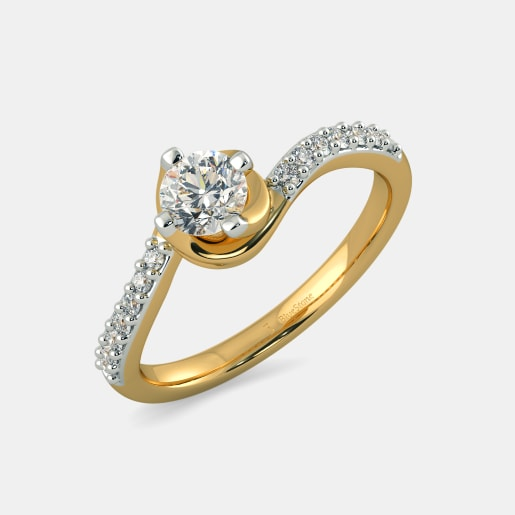 Diamond PreSet Solitaire Ring In White Gold (2.96 Gram) With Diamonds (0.128 Ct) And Solitaire (0.25 Ct)