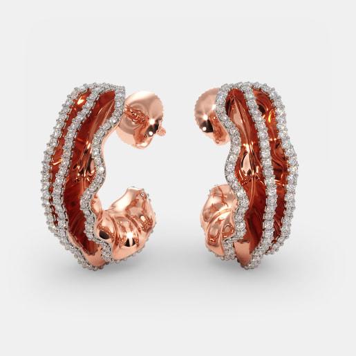 The Lamina J Hoop Earrings