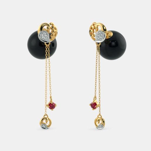 The Peacock Onyx Earrings