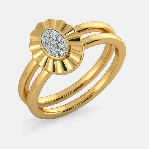 Diamond Ring In Yellow Gold (6.2 Gram) With Diamonds (0.102 Ct)