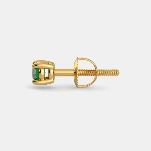 Emerald Earring In Yellow Gold (0.53 Gram)