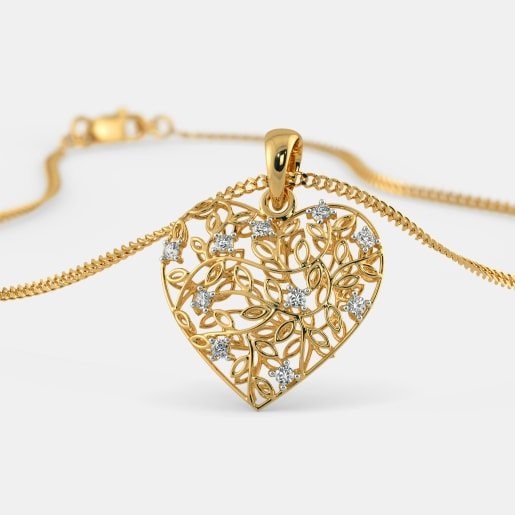 Gold pendants buy 1050 gold pendant designs online in india 2018 the amora pendant mozeypictures