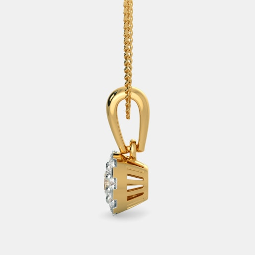 Diamond Pendant In Yellow Gold (1.05 Gram) With Diamonds (0.255 Ct)
