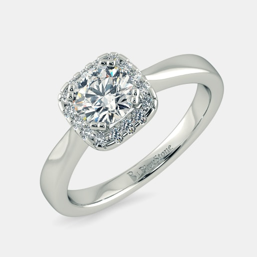 Diamond PreSet Solitaire Ring In White Gold (3.517 Gram) With Diamonds (0.160 Ct) And Solitaire (0.50 Ct)