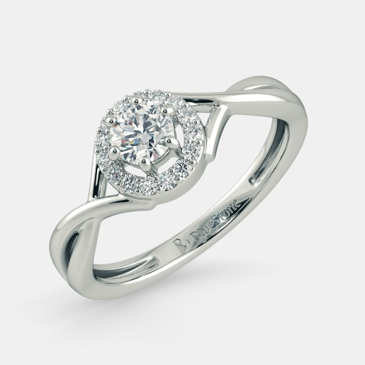Diamond PreSet Solitaire Ring In White Gold (2.373 Gram) With Diamonds (0.120 Ct) And Solitaire (0.25 Ct)
