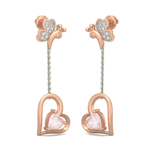 The Butterfly Heart Earrings