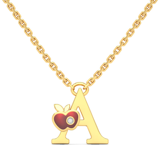 The A for Apple Necklace for Kids