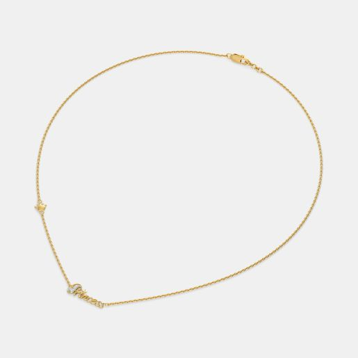 The Princess Script Necklace