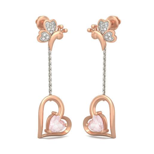 The Butterfly Heart Earrings