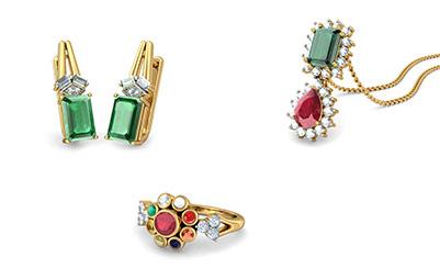 Gold Gemstone Jewellery