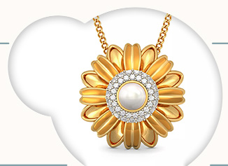 Online jewellery shopping store india buy gold and diamond the hema floral pendant aloadofball Image collections